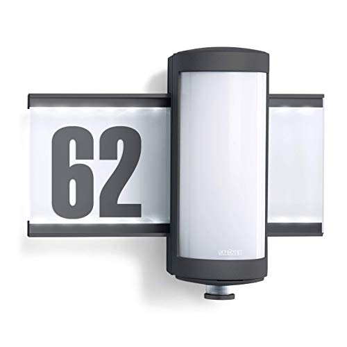 Steinel Außenleuchte L 625 S, Hausnummer beleuchtet, LED...