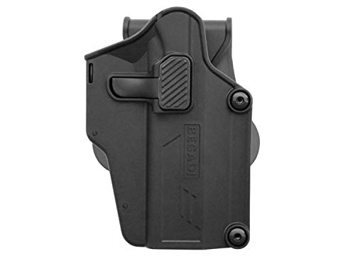 BEGADI Airsoft Multi Fit Hartschalen - Holster mit Paddle, für viele Softair Pistolen, schwarz
