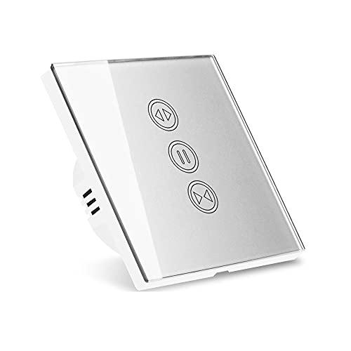 LITOSM Rolladenschalter WiFi- Vorhang Blindschalter Silberfarbe...