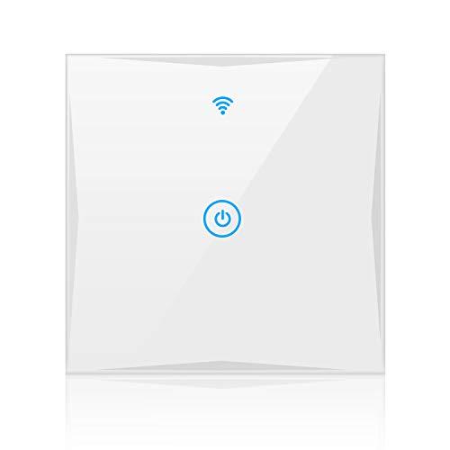 Alexa Smart Lichtschalter, SAINKO 1-Weg Wlan in Wall gehärtetes...