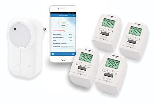 4 Stück Heizkörperthermostat Smart Home System mit Gateway und...