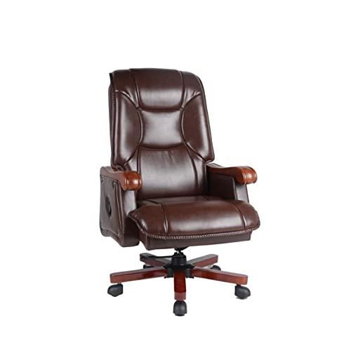 HHTD. Bürostuhl Luxus High-End Home Boss Stuhl Leder Bürostuhl...