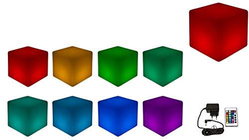 Luminatos 5, LED Cube/Hocker 40cm beleuchtet mit Farbwechsel...