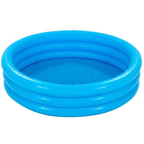com-four® Planschbecken für Kinder, 3-Ring Kinderpool in blau...