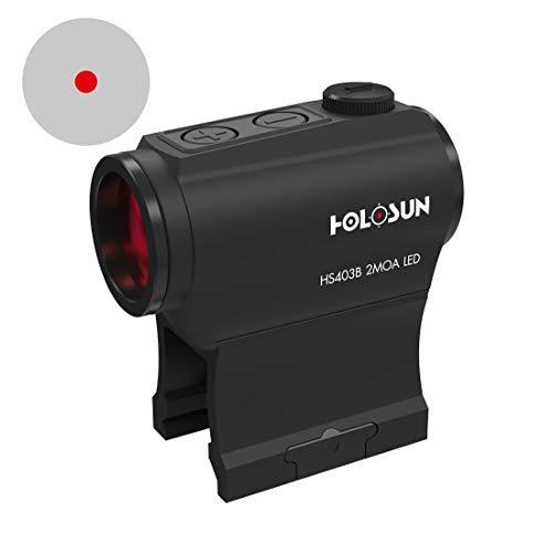 Holosun HS403B Microdot Rotpunktvisier mit 2MOA Punkt Absehen,...