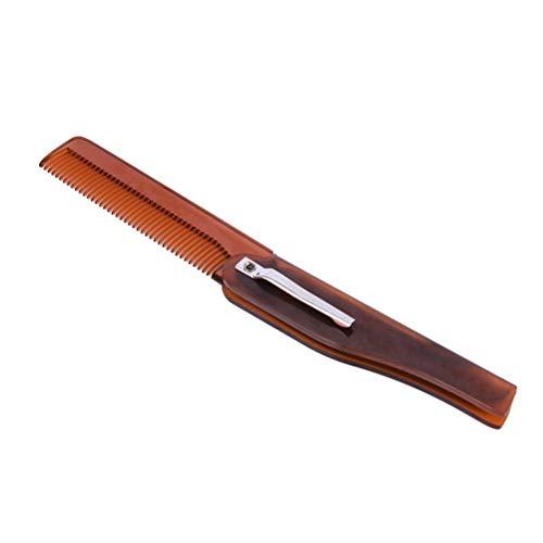xinying Haarkamm, faltbar, Taschenclip, für Schnurrbart,...