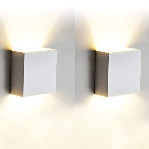 12W Led Wandleuchten Innen Modern, 2 Stücke Wandbeleuchtung...