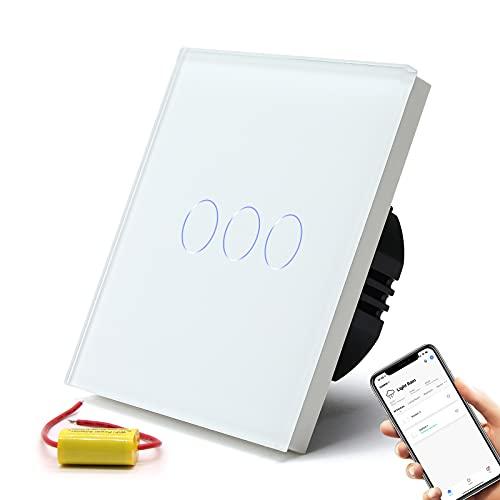 BSEED Smart Alexa Lichtschalter,3 Fach Smart Lichtschalter...