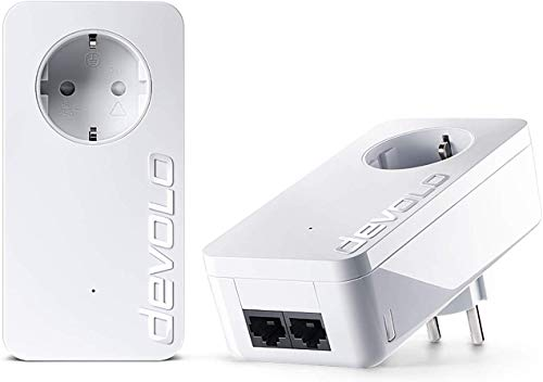 devolo dLAN 550 duo+ Starter Kit Powerline (500 Mbit/s Internet...