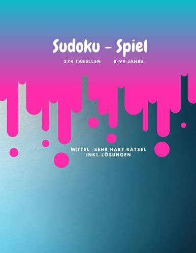 Sudoku - Spiel 274 Tabellen 8-99 Jahre mittel- sehr hart inkl....