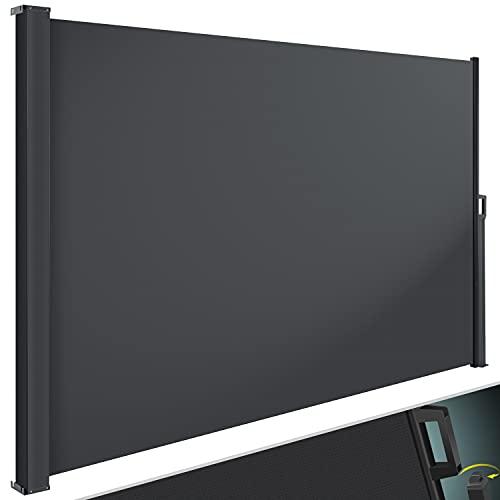 KESSER® Seitenmarkise ausziehbar Markise 180 x 300 cm Blickdicht...