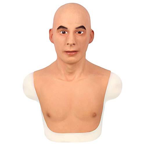 NADAENMJ Realistische Latex-Masken Promi Mann Kopfmaske...