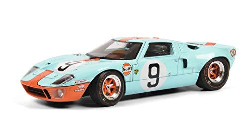 Solido 421185130 S1803001 Ford GT40 MK1#9, Bj. 1968, 24h Le Mans, Modellauto, 1:18, blau/orange
