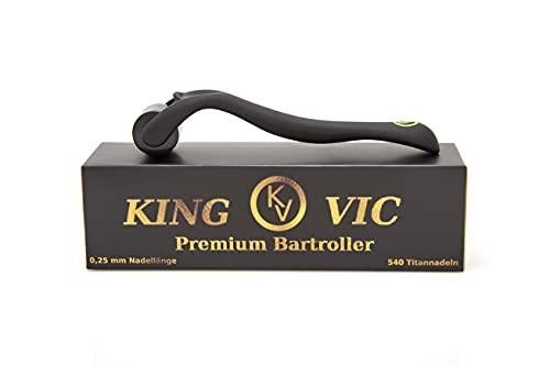 Premium Bartroller, Bartwachstum & Pflege, 540 Titan-Nadeln...