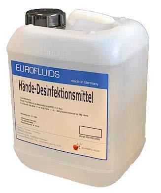 Eurofluids Hände-Desinfektionsmittel zur hygienischen Hände Desinfektion | 10 Liter
