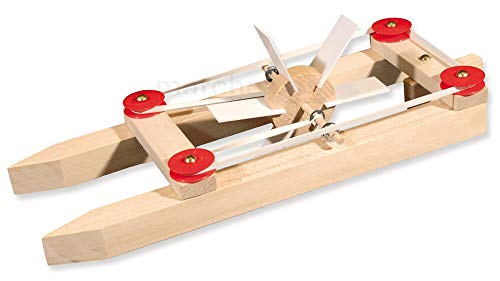 matches21 Katamaran Boot Modell Holz Schiff mit Gummimotor...