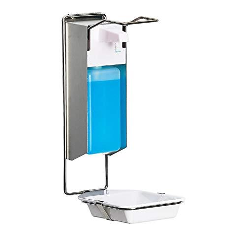 Desinfektionsspender mit Tropfschale für Wandmontage - 1000 ml,...