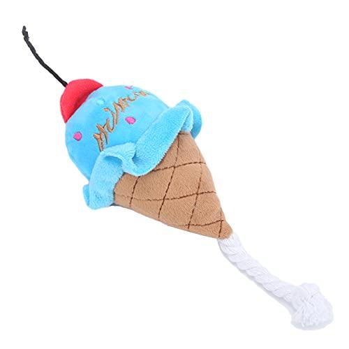 FASJ Haustier-Eiscreme-Plüschspielzeug, Haustier-Kauspielzeug...