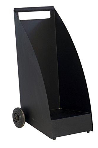 Kaminholzwagen DESIGN WOOD, schwarz matt - (KNWOOD3001 SCHM)