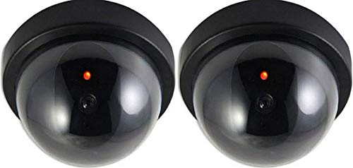 2X Dummy Kamera Attrappe mit Objektiv Videoüberwachung...