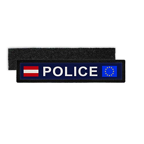 Copytec Namenspatch Police Austria Europa Polizei Namensschild...