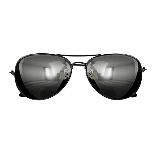Widmann 6860P - Polizistenbrille, schwarz, verspiegelte Gläser,...