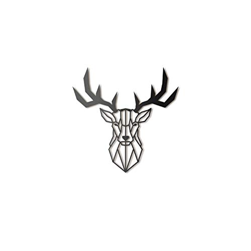 Deer Head Metal Wall Art by Hoagard   Hirschkopf Metall Wandkunst...