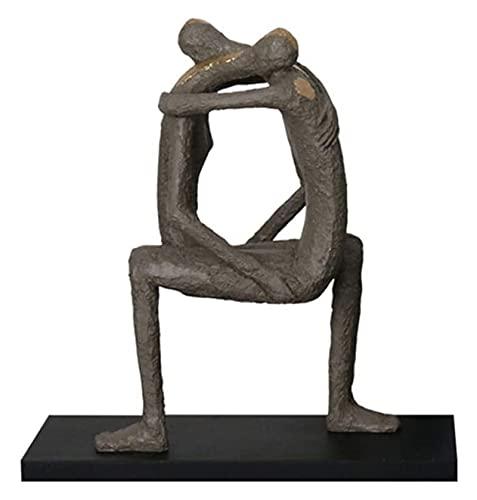 WQQLQX Statue Charakter Skulptur Paar Statue Handwerk Desktop...