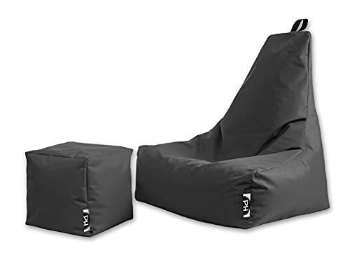 Patchhome Premium Lounge Sessel inkl. Würfel | Gaming Sitzsack |...