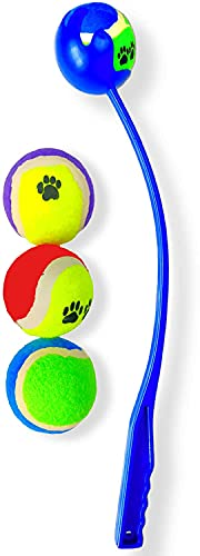 Ballwerfer für Hunde, mit 4 Tennisbällen, Spielbälle,...