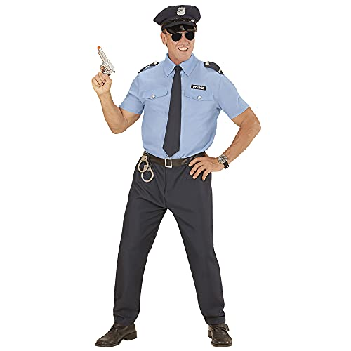 Widmann - Kostüm Polizist, Hemd, Hose, Gürtel, Krawatte, Hut,...