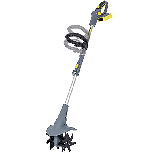 TSMALL Akku-Tiller-Rotavator, elektrischer 20-V-Vertikutierer mit...