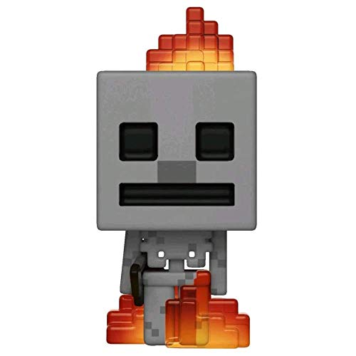 Funko - Figurine Minecraft - Skeleton In Fire Exclu Pop 10cm -...