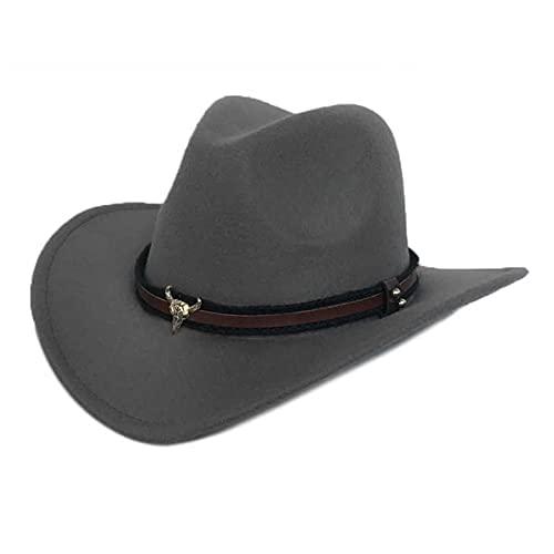 Kathlen West Cowboy Hut Mode Nachahmung Filz Metall Stierkopf...