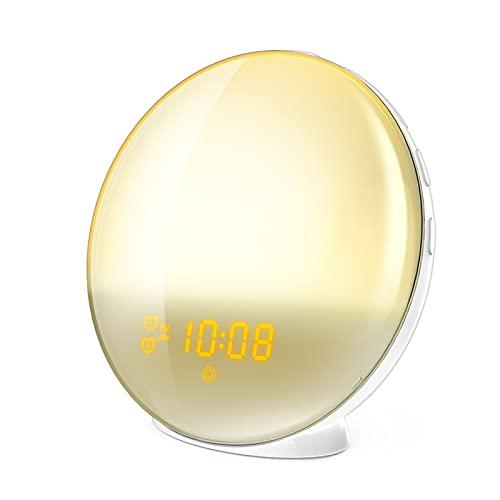 Queenser WiFi Wake-Up Light Smart Wake Up Workday Wecker mit 7...