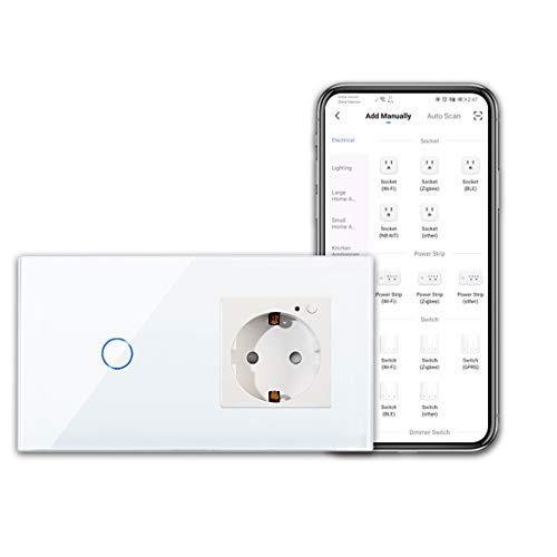 CNBINGO WLAN Steckdose und Smart Lichtschalter - 1-Fach...