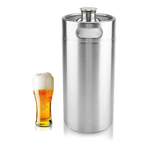 Mini Edelstahl Bierfass Growler Keg tragbares Bier Basteln Fass...