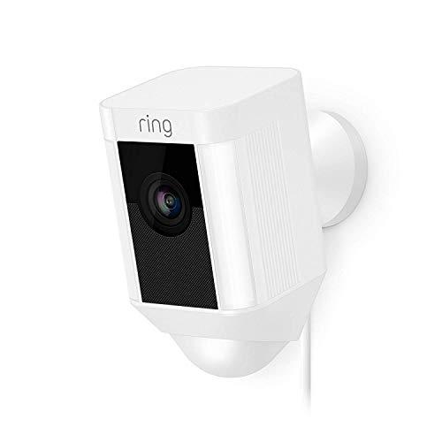 Ring Spotlight Cam Wired | HD Sicherheitskamera mit LED Licht, Sirene und...