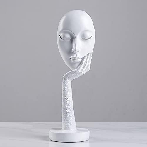 FUFRE Skulptur Deko, Abstrakte Kunst Statue, Maske Figuren Nordic...