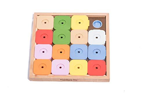 Hunde Sudoku Intelligenz Spielzeug interaktiv aus Holz mit 16...
