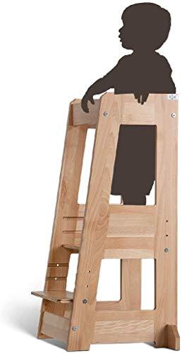 TiSsi Lernturm, Entdeckerturm Montessori mitwachsend Buche natur-...