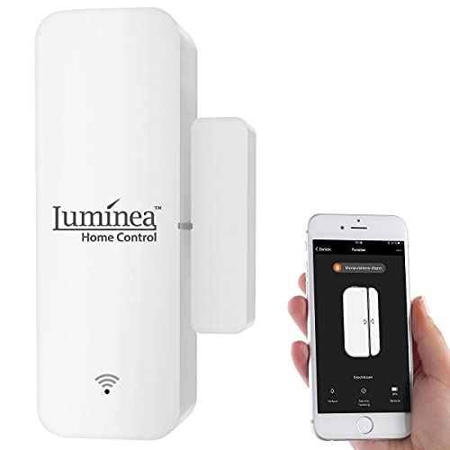Luminea Home Control Fensterkontakt: WLAN-Tür- & Fensteralarm...
