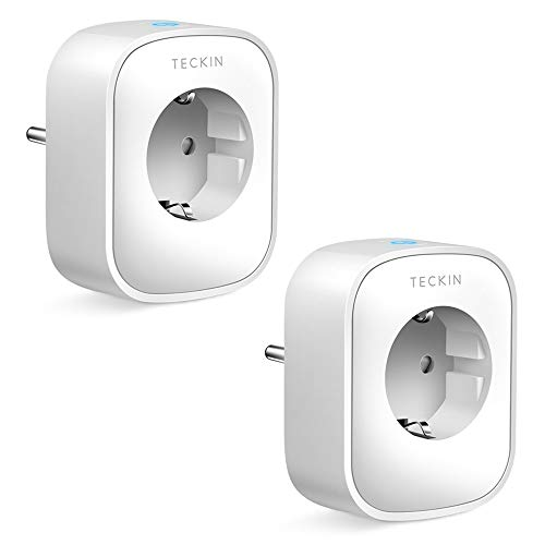 TECKIN WLAN Smart Steckdose 16A, Alexa Steckdose 2er Pack, Smart Home Steckdose misst den...