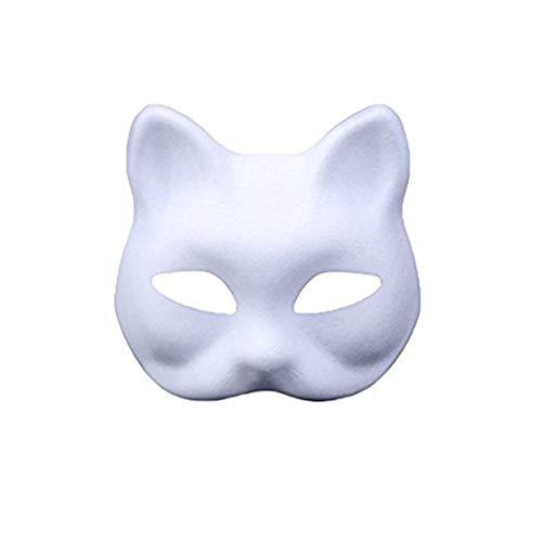 meioro DIY Weißes Papier Maske Zellstoff Blank Handgemalte Maske...