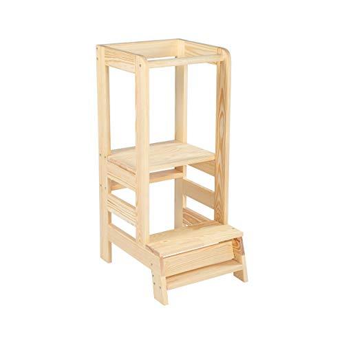 Angelove Lernturm für Kinder Learning Tower Schemel aus Holz...