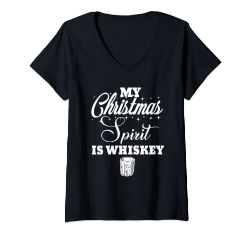 Damen Meine Weihnachtsstimmung ist Whiskey Lustiger Likörtrinker...