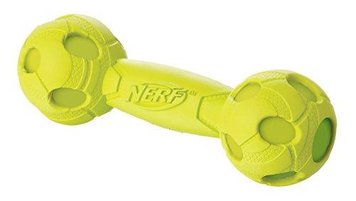 Nerf Dog Hundespielzeug Squeak Barbell, Hantel mit Quietscher,...