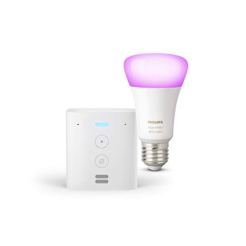 Echo Flex + Philips Hue White & Color Ambience LED-Lampe,...