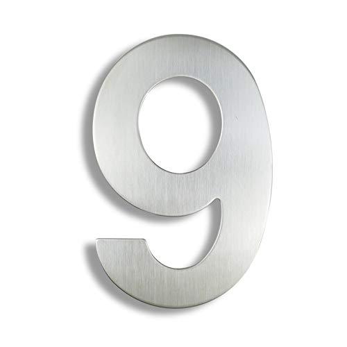 CHUNMA 15 cm Haus Nummernzeichen # 0-9 Outdoor Silver 6 Inch....