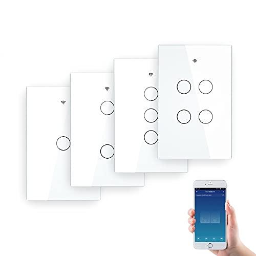 Rolladenschalter Wall Touch Smart Light Switch mit Neutral/Nein...